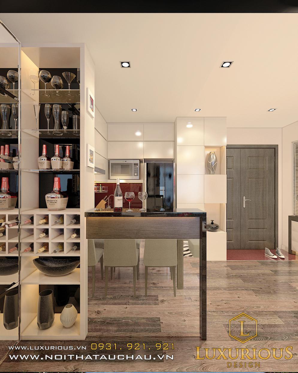 Phòng bếp chung cư Sky hiện đại