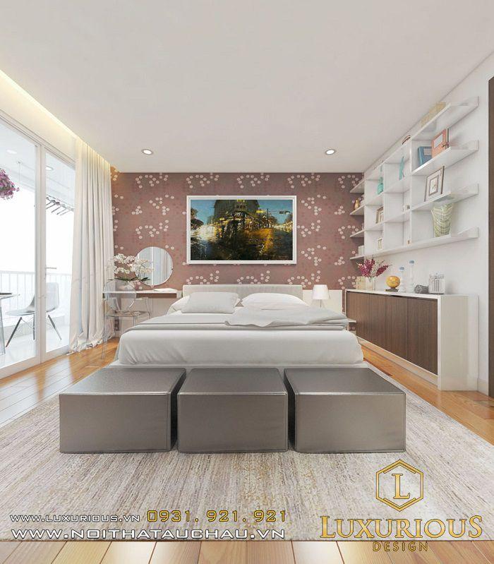 thiết kế nội thất phòng ngủ nhà chung cư 70m2