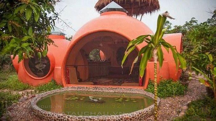 Nhà mái vòm sặc sỡ ở Thái Lan