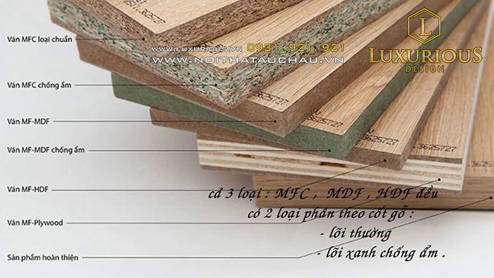 Báo giá thi công nội thất gỗ An Cường MFC