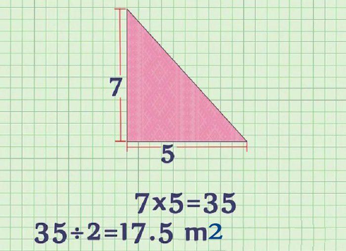 cách tính diện tích mét vuông tam giác
