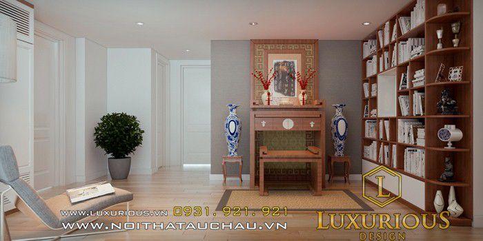 Mẫu thiết kế phòng thờ xây dựng