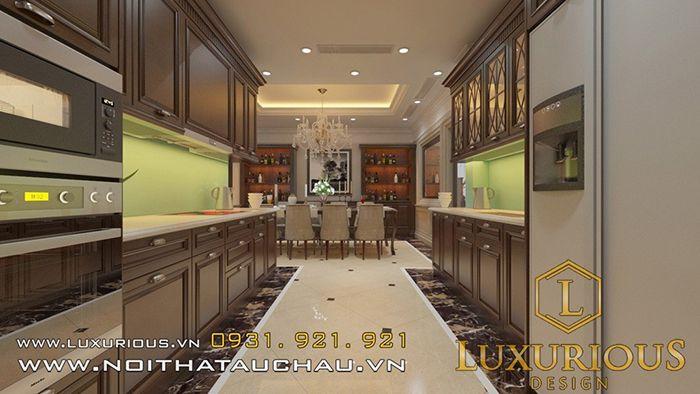 Phòng bếp biệt thự mini