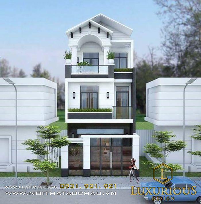 Thiết kế nhà biệt thự mặt tiền 6m
