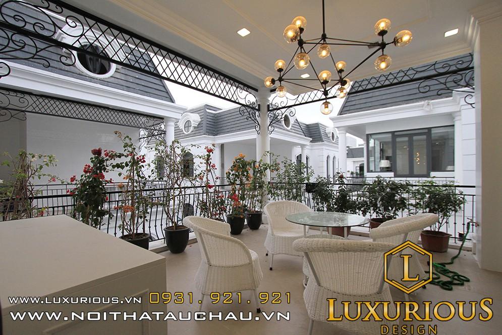 Thiết kế nội thất ban công biệt thự imperia Hải Phòng