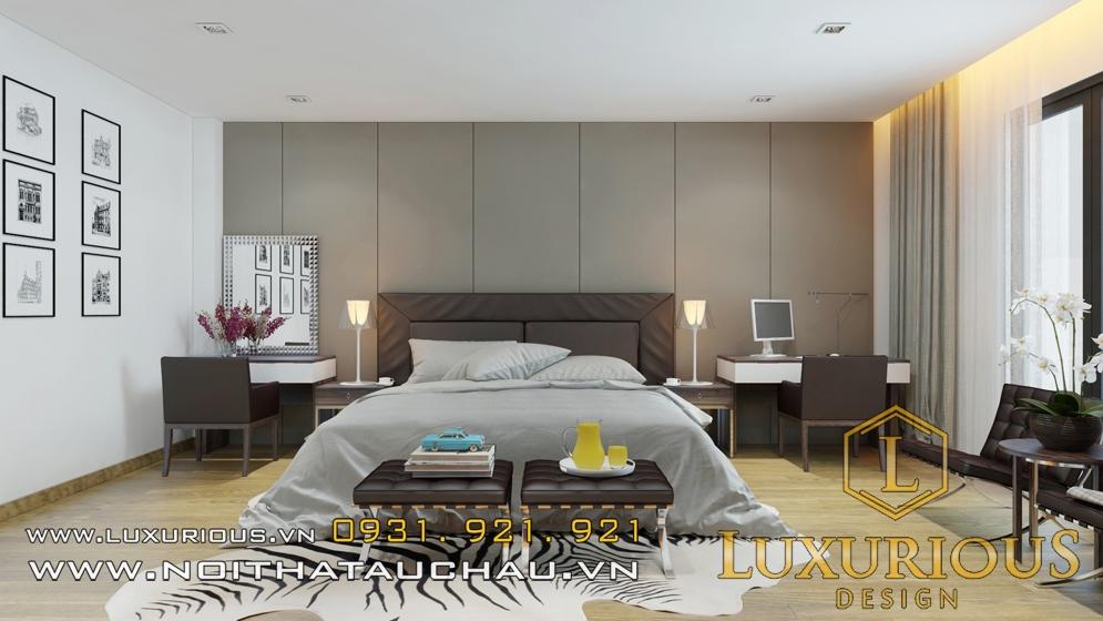 Mẫu nội thất phòng ngủ vinhomes hiện đại