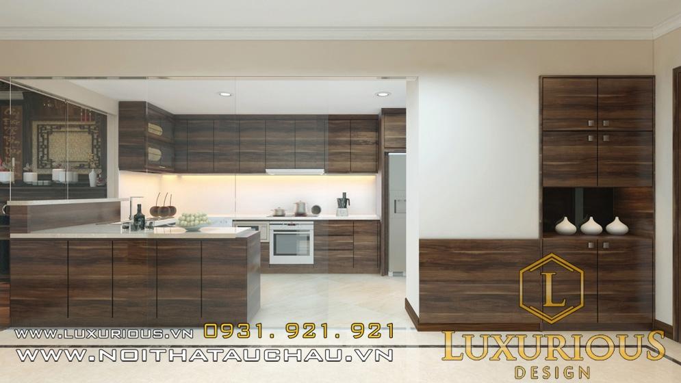 Thiết kế nội thất chung cư Royal City phòng bếp