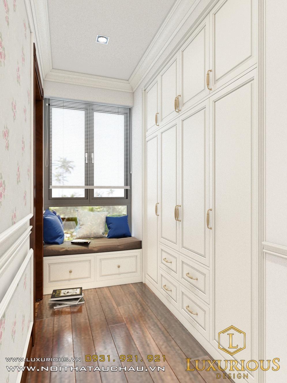 Thiết kế tủ quần áo biệt thự Ecopark