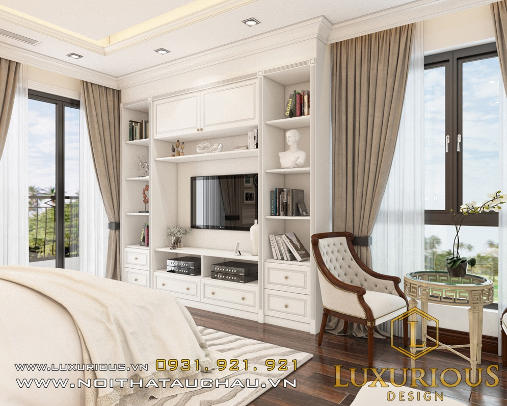 Phòng ngủ biệt thự đẹp ecopark