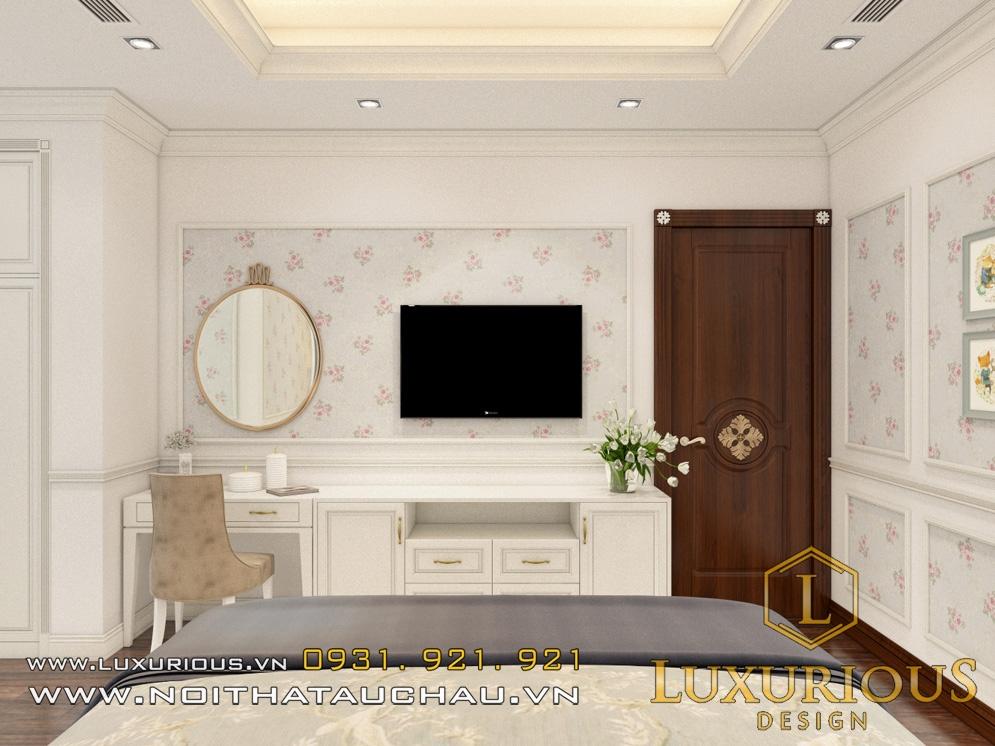 Thiết kế nội thất phòng ngủ tân cổ điển biệt thự
