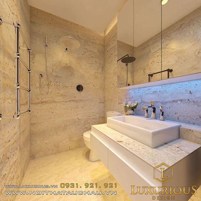 Thiết kế nội thất phòng tắm nhà 50m2