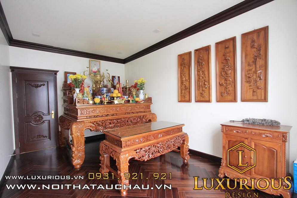 Thiết kế nội thất phòng thờ biệt thự Vinhomes Hải Phòng