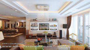 Thiết kế phòng khách chung cư Mandarin