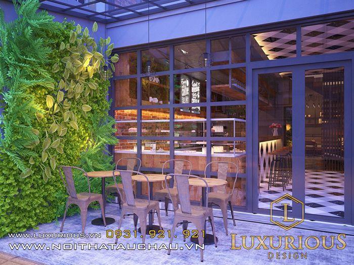 Thiết kế quán cafe san vườn nhỏ