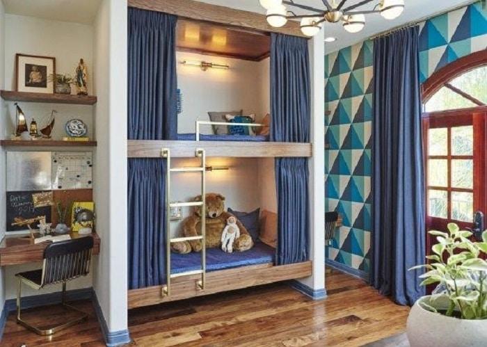 Mẫu thiết kế giường tầng cho bé trai