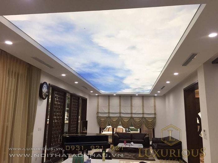 Trang trí trần nhà đơn giản tinh tế