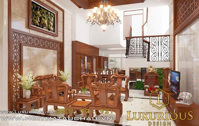 Nội thất phòng khách bằng gỗ tự nhiên 4