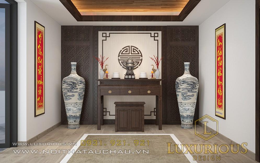 Thiết kế nội thất phòng thờ biệt thự Đà Nẵng