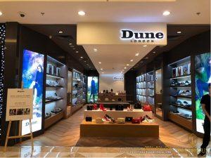 Thiết kế nội thất showroom shop giày Dune