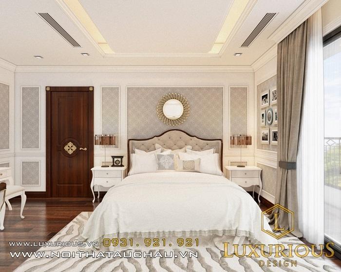 Thiết kế nội thất phòng ngủ biệt thự Ecopark