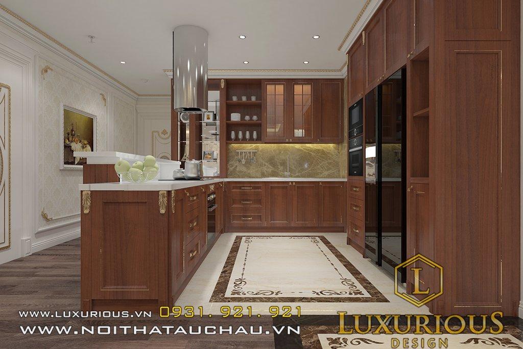 Mẫu tủ bếp chung cư golden palm đẹp