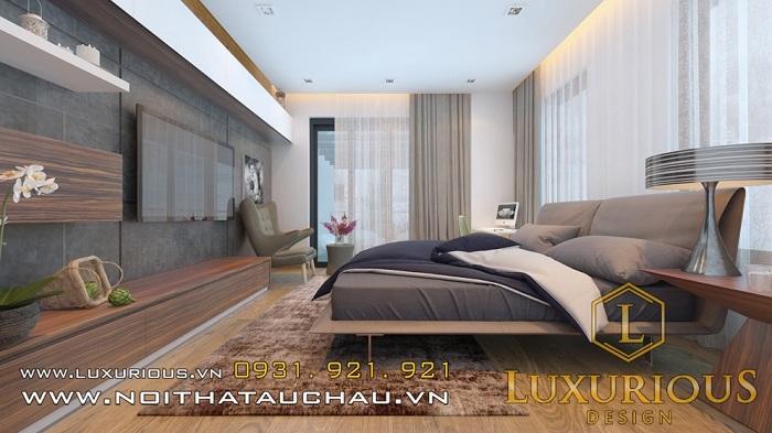 Thiết kế mẫu nhà cấp 4 3 phòng ngủ cho phòng ngủ cha mẹ