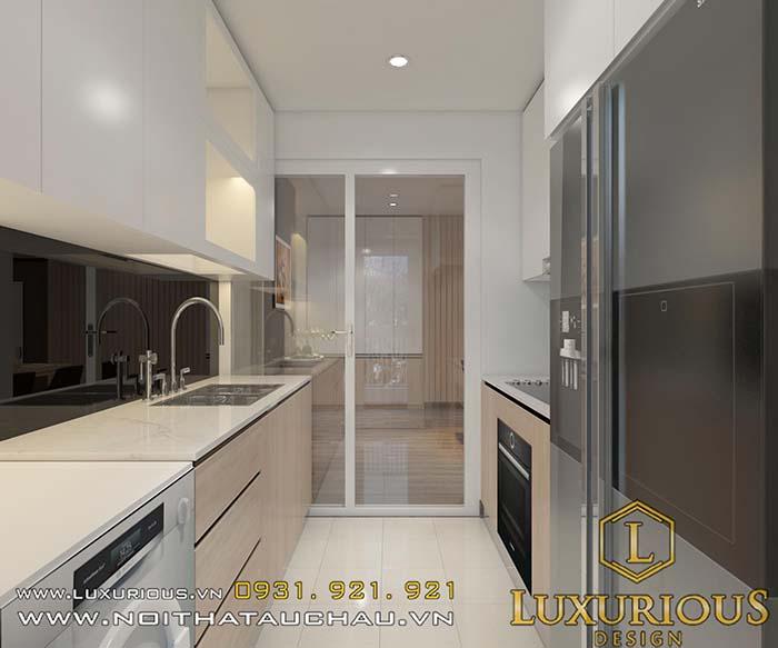 Phòng bếp chung cư cao cấp