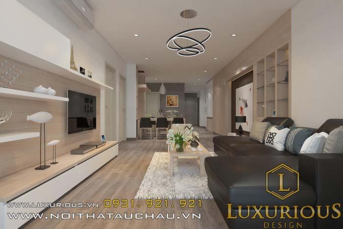 Phòng khách căn hộ chung cư cao cấp