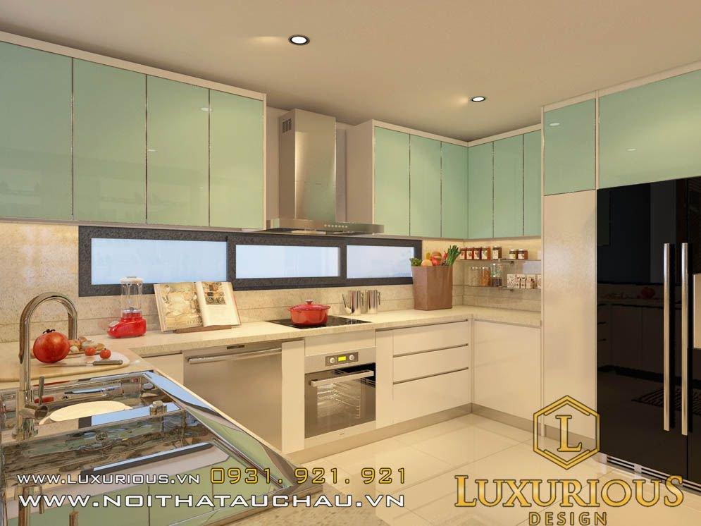 Mẫu thiết kế phòng bếp chung cư