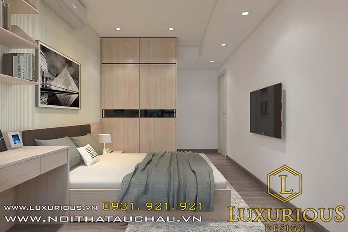 Phòng ngủ căn hộ chung cư cao cấp
