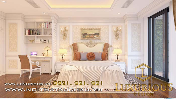 Phòng ngủ chung cư sang trọng