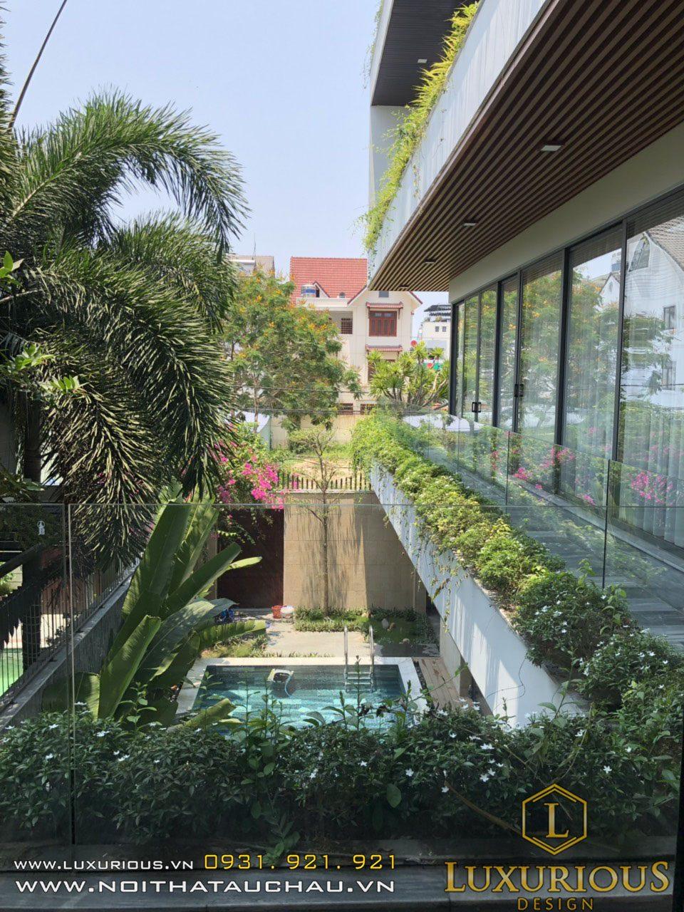 Tư vấn thiết kế nội thất nhà phố có bể bơi