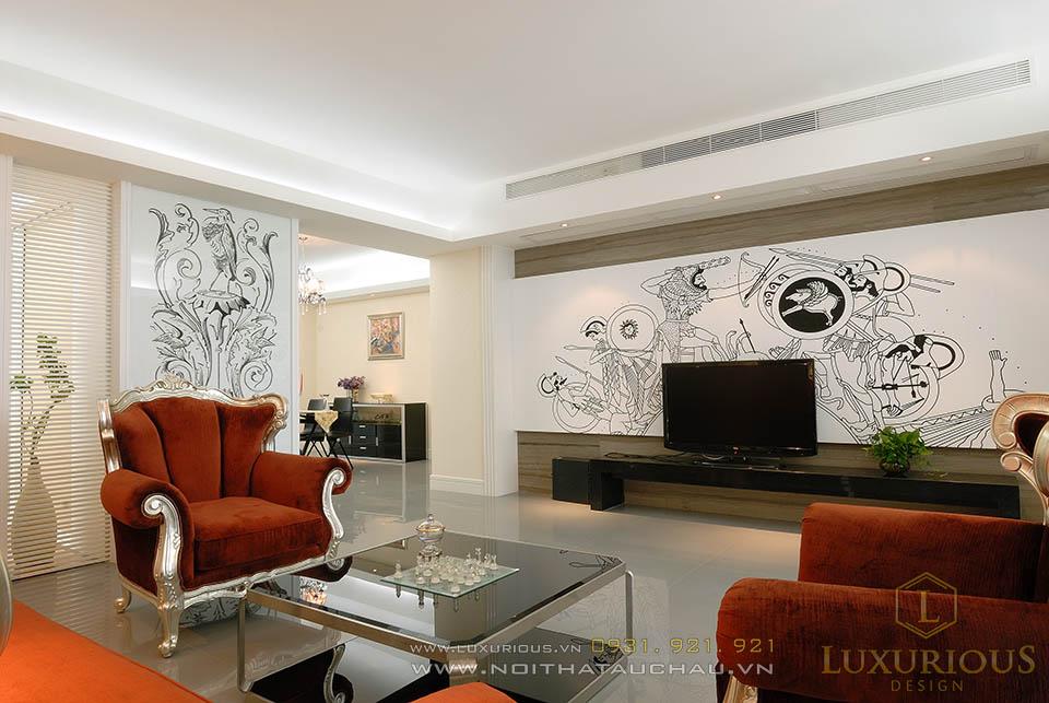 Phòng khách chung cư cao cáp