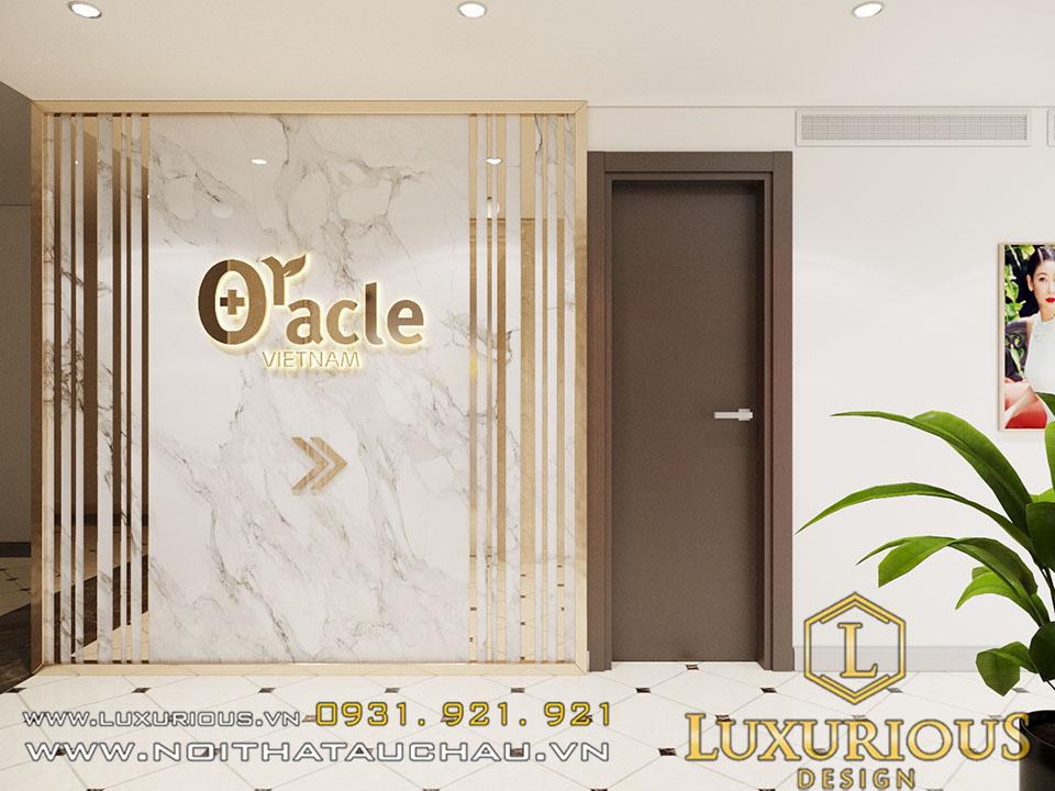 Logo thương hiệu thẩm mỹ viện oracle