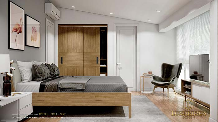 Mẫu phòng ngủ biệt thự đẹp đơn giản