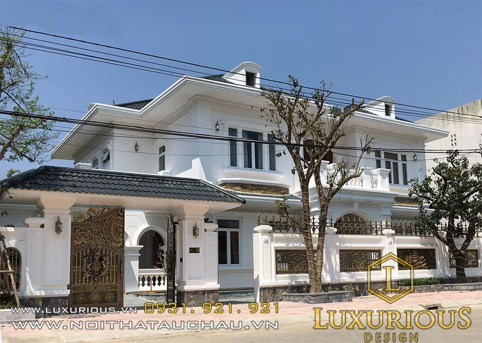 Mặt tiền biệt thự khu đô thị mới Hà Tĩnh