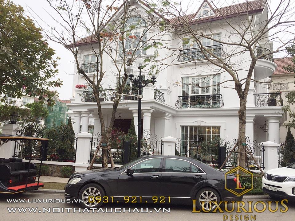 Mặt tiền biệt thự Vinhomes Hoa Phượng