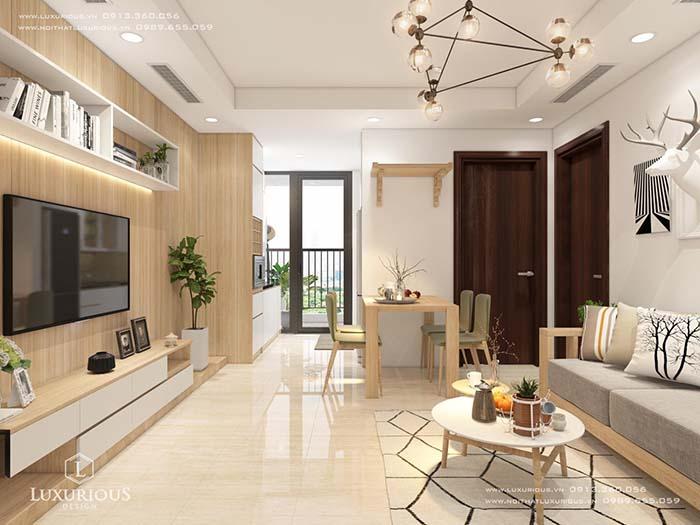 Thiết kế nội thất căn hộ chung cư nhỏ 40m2