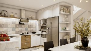 Mẫu nội thất phòng bếp biệt thự hiện đại