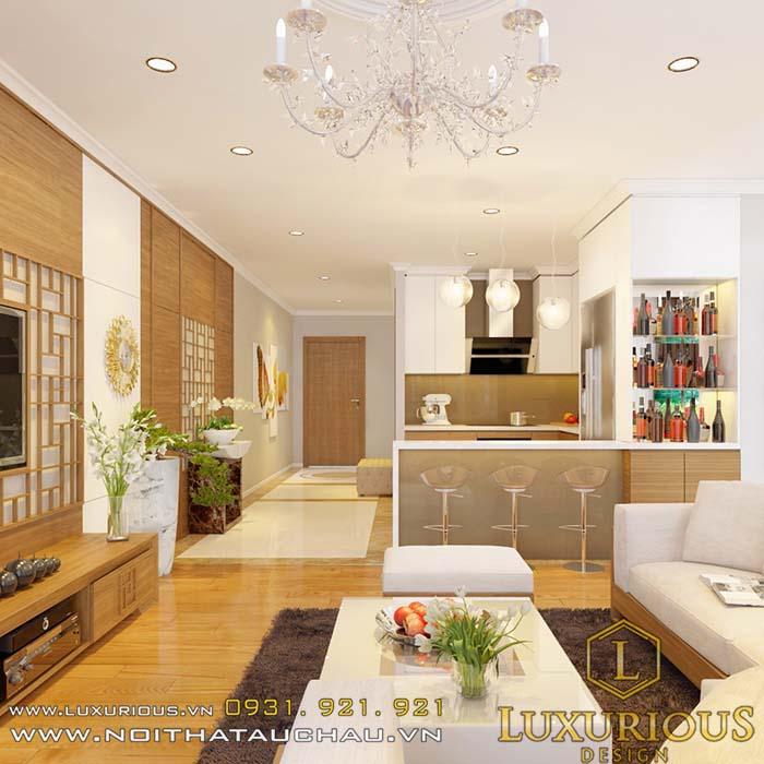 Thiết kế nội thất chung cư nhỏ 40m2 tiện nghi sang trọng