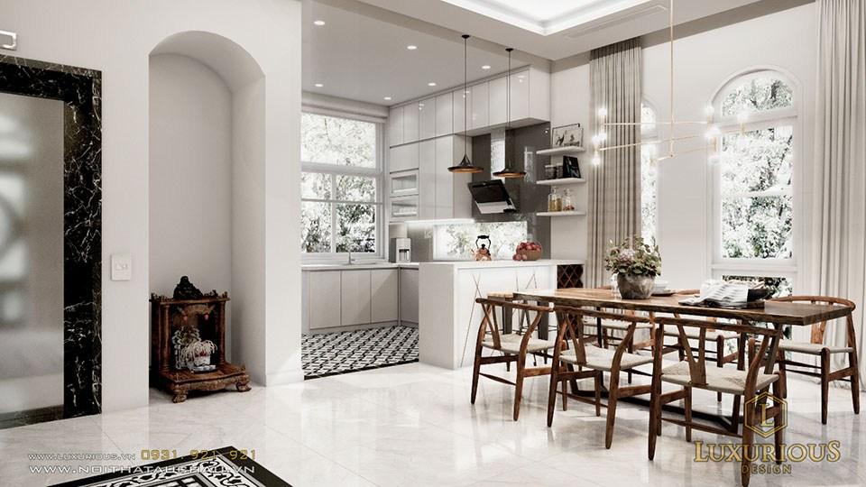 Mẫu thiết kế nội thất phòng bếp biệt thự đẹp