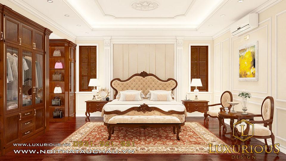 Mẫu phòng ngủ biệt thự tân cổ điển đẹp