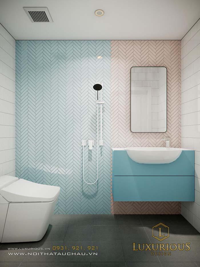 Bản vẽ thiết kế nội thất biệt thự phòng vệ sinh