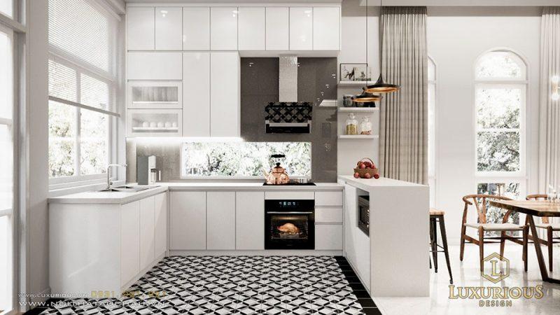 Phòng bếp biệt thự hiện đại hải phòng