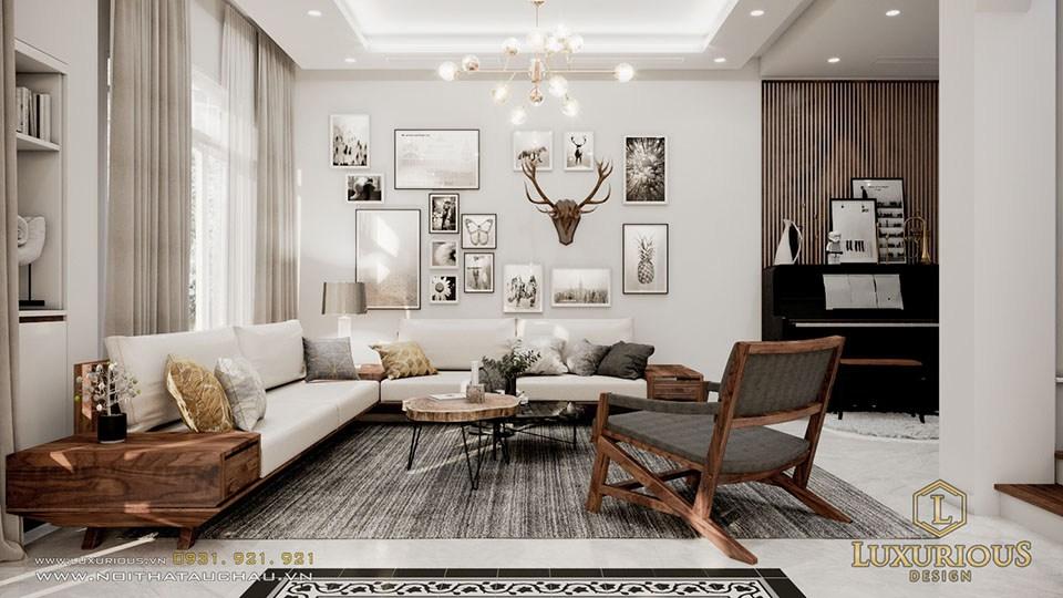 Phòng khách biệt thự hiện đại