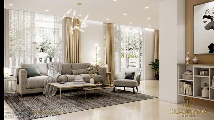Bản vẽ thiết kế nội thất biệt thự phòng khách