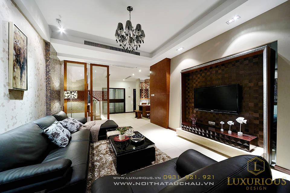 Phòng khách nhà phố 70m2