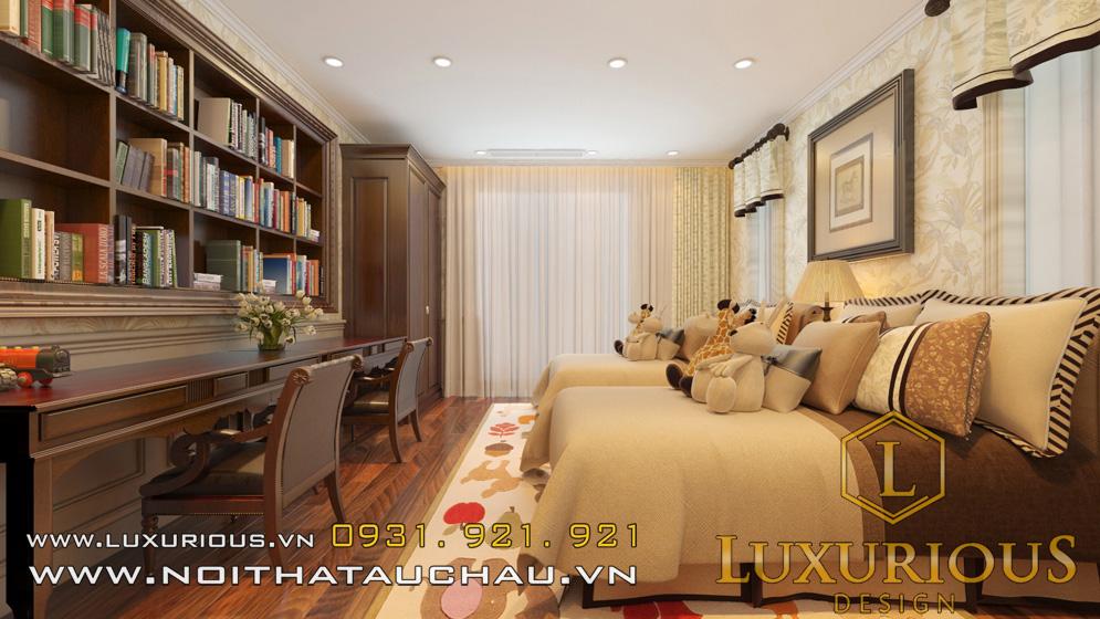 Phòng ngủ cho con phong cách tân cổ điển