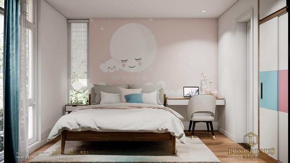 Phòng ngủ cho con biệt thự vườn tùng