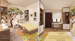 Phòng ngủ cho con chung cư mini